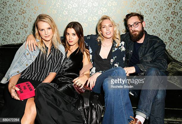 Model Kelly Sawyer stylist Jaime Schnieder writer Erin Foster and Nick Heim attend the Who What Wear visionaries launch at Ysabel on May 10 2016 in...
