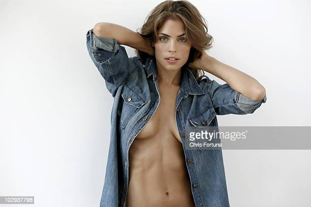 Model Kelly Thiebaud poses at a portrait session for Maxim in Los Angeles CA on December 1 2009 PUBLISHED IMAGE NO SALES TO GQ ESQUIRE FHM DETAILS...