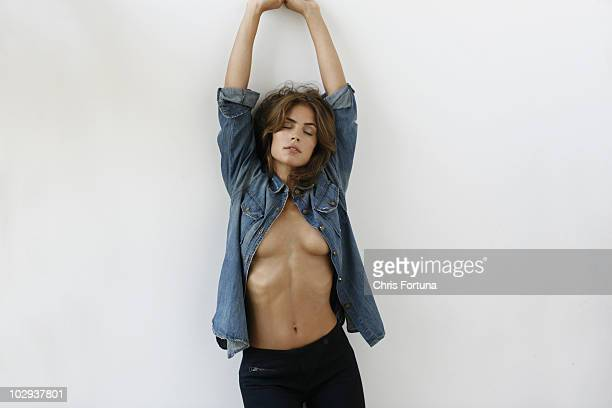 Model Kelly Thiebaud poses at a portrait session PUBLISHED IMAGE NO SALES TO GQ ESQUIRE FHM DETAILS LOADED PLAYBOY FRONT RALPH GEAR VIP NEW LOOK...