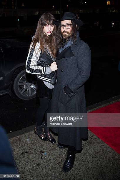 Model Kemp Muhl and Sean Lennon attend the StellaXCottonClub 2017 Autumn presentation at Cotton Club on January 10 2017 in New York City