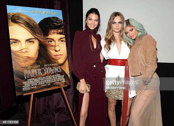 Model Kendall Jenner actress Cara Delevingne and model Kylie Jenner attend WSJ Magazine And Forevermark Host A Special Los Angeles Screening Of...