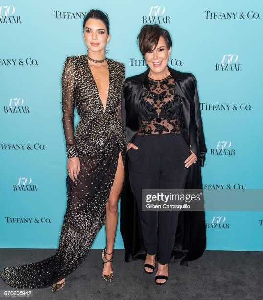 Model Kendall Jenner and Kris Jenner attend Harper's BAZAAR 150th Anniversary Event presented with Tiffany Co at The Rainbow Room on April 19 2017 in...