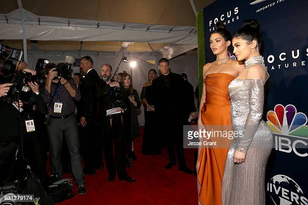 Model Kendall Jenner and television personality Kylie Jenner attend the Universal NBC Focus Features E Entertainment Golden Globes after party...