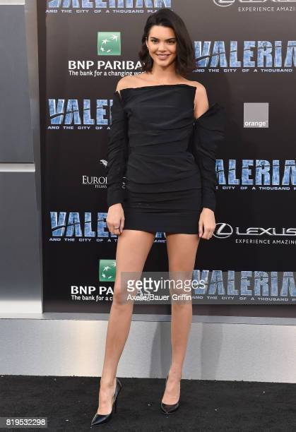 Model Kendall Jenner arrives at the Los Angeles premiere of 'Valerian and the City of a Thousand Planets' at TCL Chinese Theatre on July 17 2017 in...