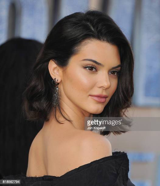Model Kendall Jenner arrives at the Los Angeles Premiere Valerian And The City Of A Thousand Planets at TCL Chinese Theatre on July 17 2017 in...