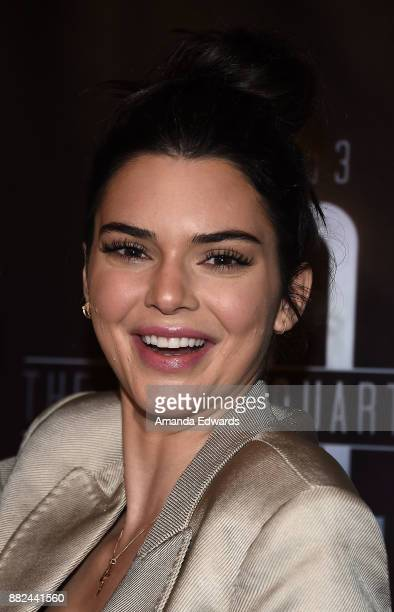 Model Kendall Jenner arrives at the premiere of OBB Pictures and go90's 'The 5th Quarter' at United Talent Agency on November 29 2017 in Beverly...