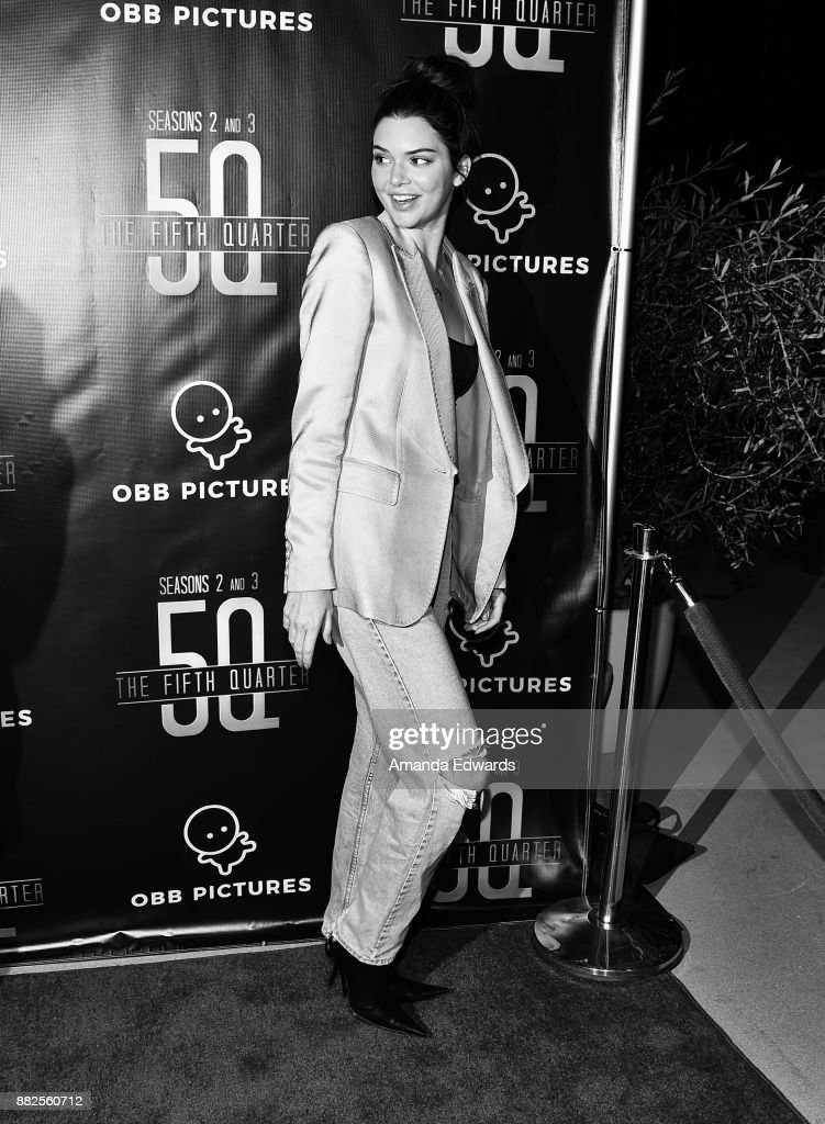 Model Kendall Jenner arrives at the premiere of OBB Pictures and go90's 'The 5th Quarter' at United Talent Agency on November 29, 2017 in Beverly Hills, California.