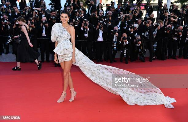 US model Kendall Jenner arrives for the film '120 Battements par Minute' in competition at the 70th annual Cannes Film Festival in Cannes France on...