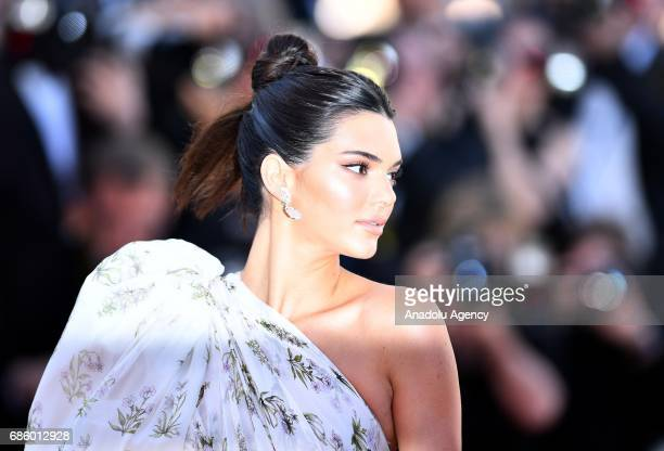 Model Kendall Jenner arrives for the film '120 Battements par Minute' in competition at the 70th annual Cannes Film Festival in Cannes, France on May...