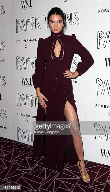Model Kendall Jenner attends a screening of 20th Century Fox's Paper Towns at the London West Hollywood on July 18 2015 in West Hollywood California
