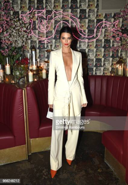 Model Kendall Jenner attends an intimate dinner hosted by The Business of Fashion to celebrate its latest special print edition 'The Age of...
