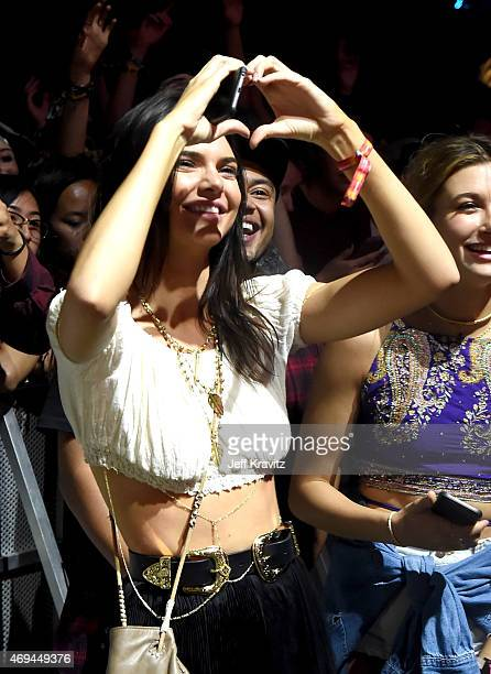 Model Kendall Jenner attends day 2 of the 2015 Coachella Valley Music Arts Festival at the Empire Polo Club on April 11 2015 in Indio California