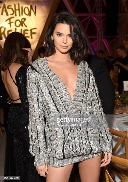Model Kendall Jenner attends Fashion for Relief Cannes 2018 during the 71st annual Cannes Film Festival at Aeroport Cannes Mandelieu on May 13 2018...