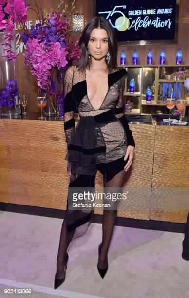 Model Kendall Jenner attends FIJI Water at HFPA's Official Viewing and AfterParty at the Wilshire Garden inside The Beverly Hilton on January 7 2018...