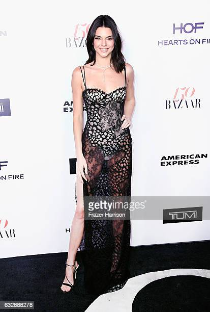 Model Kendall Jenner attends Harper's Bazaar Celebrates 150 Most Fashionable Women at Sunset Tower Hotel on January 27 2017 in West Hollywood...