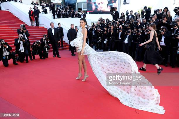 "Model Kendall Jenner attends the ""120 Beats Per Minute "" screening during the 70th annual Cannes Film Festival at Palais des Festivals on May 20,..."
