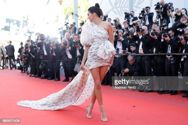 Model Kendall Jenner attends the 120 Beats Per Minute screening during the 70th annual Cannes Film Festival at Palais des Festivals on May 20 2017 in...