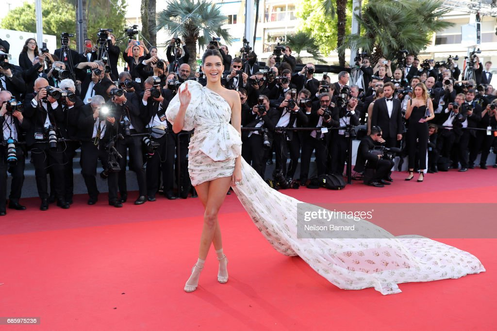 Model Kendall Jenner attends the '120 Beats Per Minute (120 Battements Par Minute)' screening during the 70th annual Cannes Film Festival at Palais des Festivals on May 20, 2017 in Cannes, France.
