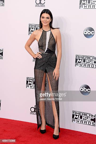 Model Kendall Jenner attends the 2014 American Music Awards at Nokia Theatre LA Live on November 23 2014 in Los Angeles California