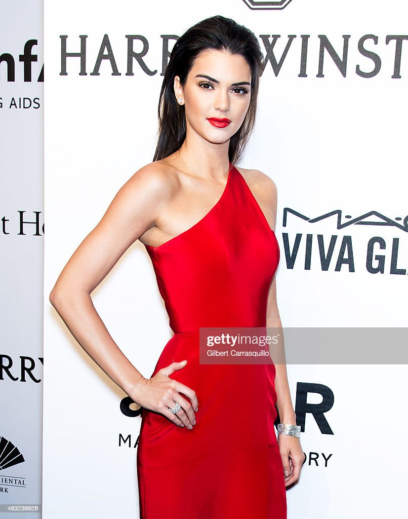 Model Kendall Jenner attends the 2015 amfAR New York Gala at Cipriani Wall Street on February 11, 2015 in New York City.