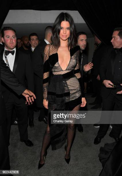 Model Kendall Jenner attends the 2018 InStyle and Warner Bros 75th Annual Golden Globe Awards PostParty at The Beverly Hilton Hotel on January 7 2018...