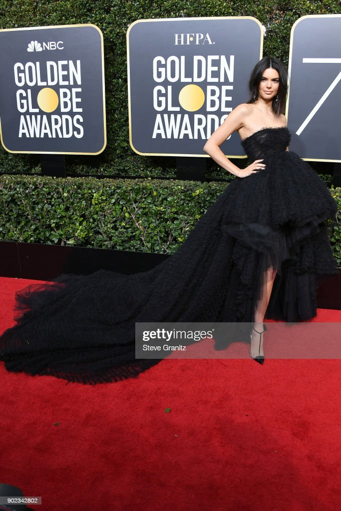 Model Kendall Jenner attends The 75th Annual Golden Globe Awards at The Beverly Hilton Hotel on January 7, 2018 in Beverly Hills, California.