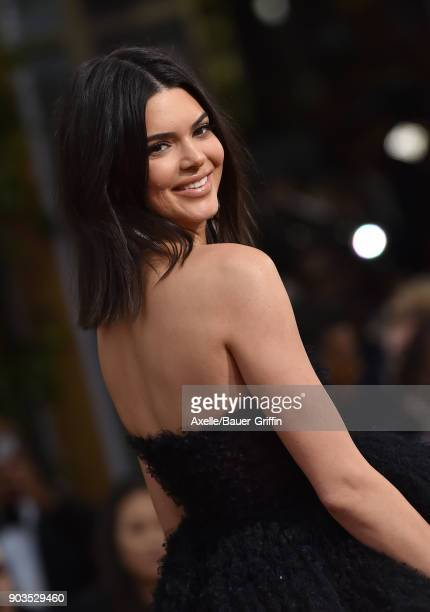 Model Kendall Jenner attends the 75th Annual Golden Globe Awards at The Beverly Hilton Hotel on January 7 2018 in Beverly Hills California