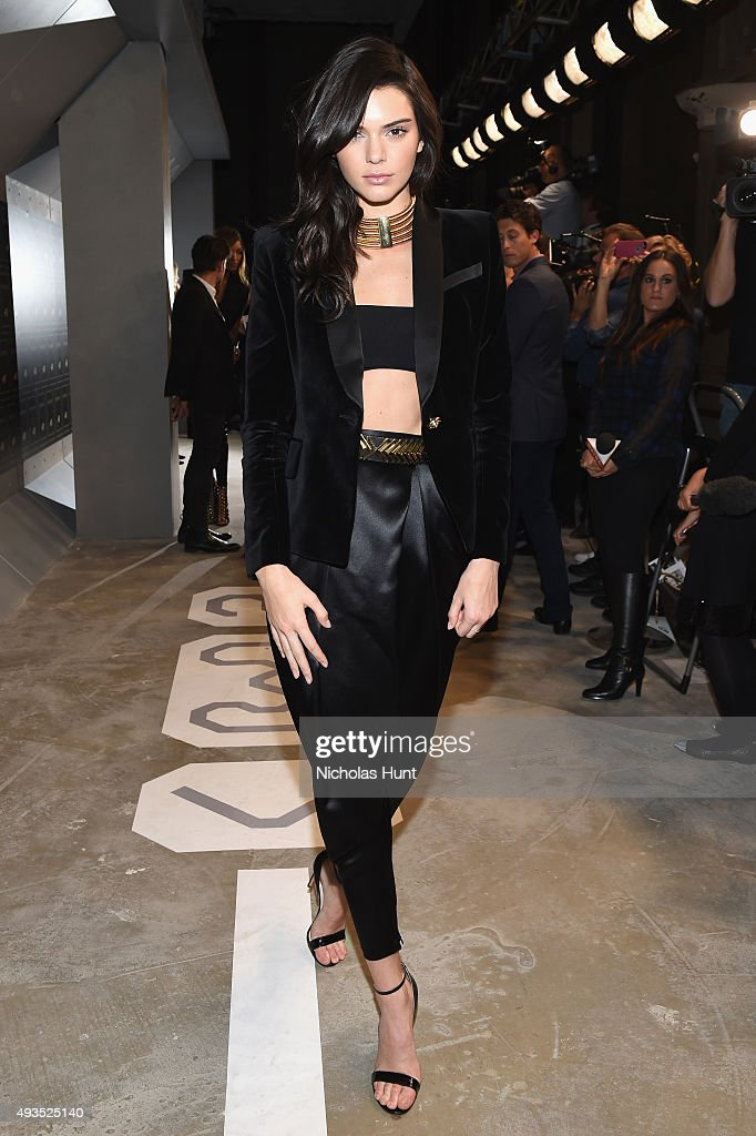 Model Kendall Jenner attends the BALMAIN X H&M Collection Launch at 23 Wall Street on October 20, 2015 in New York City.