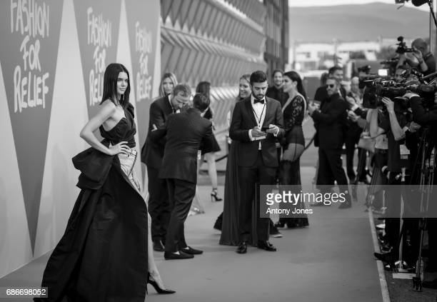 Model Kendall Jenner attends the Fashion for Relief event during the 70th annual Cannes Film Festival at Aeroport Cannes Mandelieu on May 21 2017 in...
