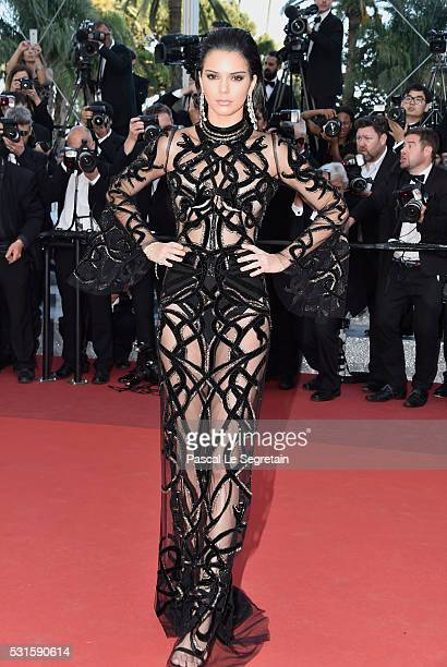 Model Kendall Jenner attends the From The Land Of The Moon premiere during the 69th annual Cannes Film Festival at the Palais des Festivals on May 15...
