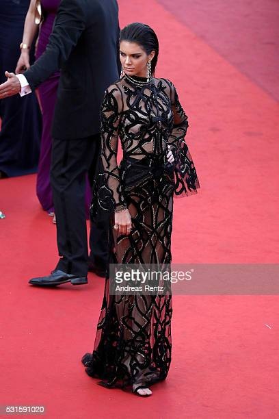 """Model Kendall Jenner attends the """"From The Land Of The Moon """" premiere during the 69th annual Cannes Film Festival at the Palais des Festivals on May..."""