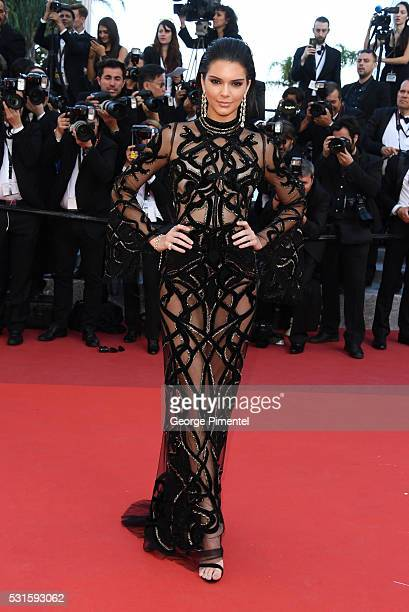 Model Kendall Jenner attends the screening of From The Land Of The Moon at the annual 69th Cannes Film Festival at Palais des Festivals on May 15...