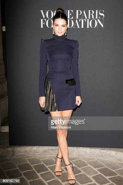 Model Kendall Jenner attends Vogue Foundation Dinner during Paris Fashion Week as part of Haute Couture Fall/Winter 20172018 at Musee Galliera on...