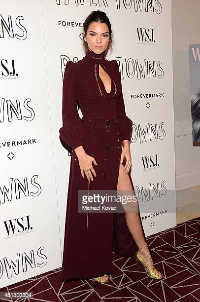 Model Kendall Jenner attends WSJ Magazine And Forevermark Host A Special Los Angeles Screening Of Paper Towns at The London West Hollywood on July 18...