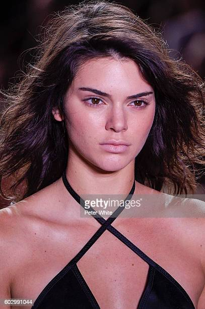 Model Kendall Jenner beauty runway detail walks the runway during the Alexander Wang fashion show at Pier 94 on September 10 2016 in New York City