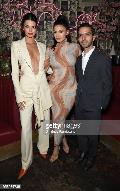 Model Kendall Jenner Founder Kylie Cosmetics Kylie Jenner Founder The Business of Fashion Imran Amed attend an intimate dinner hosted by The Business...