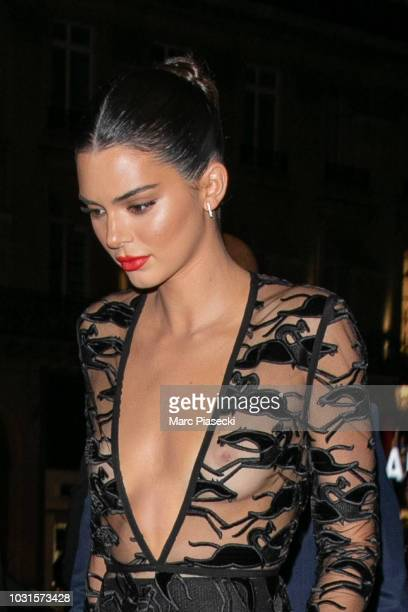 Model Kendall Jenner is seen arriving at the Longchamp 70th Anniversary Celebration at Opera Garnier on September 11, 2018 in Paris, France.