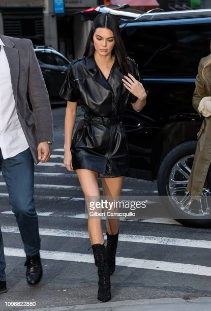 Model Kendall Jenner is seen arriving to Longchamp Fall/Winter 2019 Fashion Show at 28 Liberty Street during New York Fashion Week on February 9,...