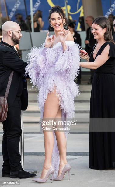 Model Kendall Jenner is seen arriving to the 2018 CFDA Fashion Awards at Brooklyn Museum on June 4 2018 in New York City