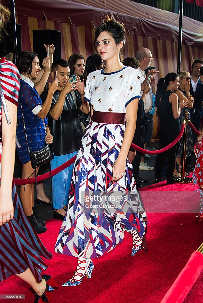 Model Kendall Jenner is seen at Marc Jacobs during Spring 2016 New York Fashion Week on September 17, 2015 in New York City.