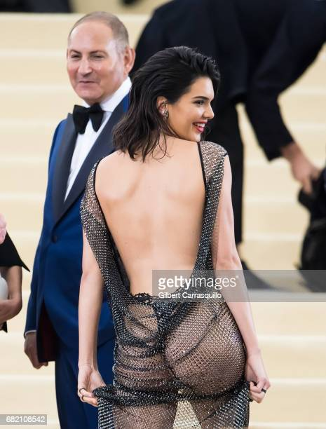 Model Kendall Jenner is seen at the 'Rei Kawakubo/Comme des Garcons Art Of The InBetween' Costume Institute Gala at Metropolitan Museum of Art on May...