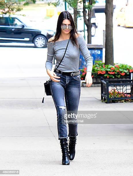 Model Kendall Jenner is seen Baldwin are seen walking a up westside on September 3 2015 in New York City