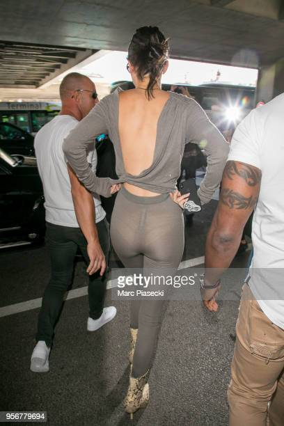Model Kendall Jenner is seen during the 71st annual Cannes Film Festival at Nice Airport on May 10 2018 in Nice France