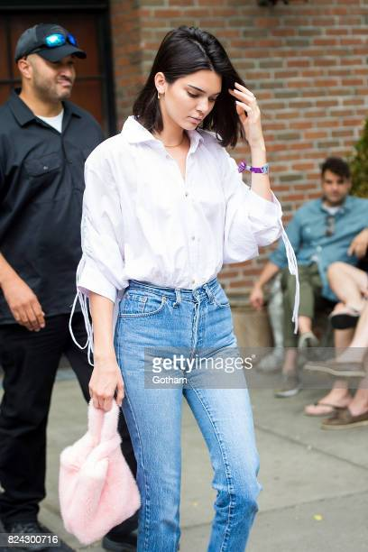 Model Kendall Jenner is seen in the East Village on July 29 2017 in New York City