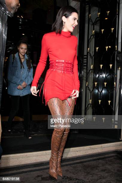 Model Kendall Jenner is seen on March 4 2017 in Paris France