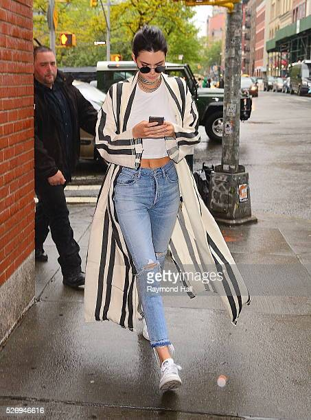 Model Kendall Jenner is seen walking in Soho on May 1 2016 in New York City