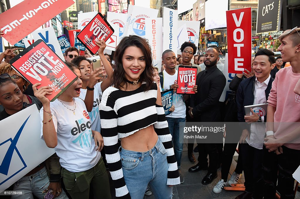 Model Kendall Jenner participates in MTV Total Registration Live in Times Square on September 27, 2016 in New York City.
