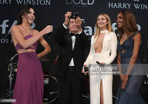 Model Kendall Jenner photographer Mario Testino models Gigi Hadid and Jourdan Dunn attend amfAR's 22nd Cinema Against AIDS Gala Presented By Bold...