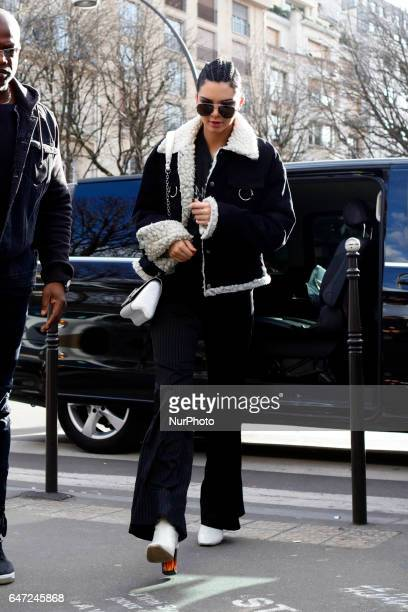 US model Kendall Jenner seen leaving her hotel in Paris France on March 2 2017
