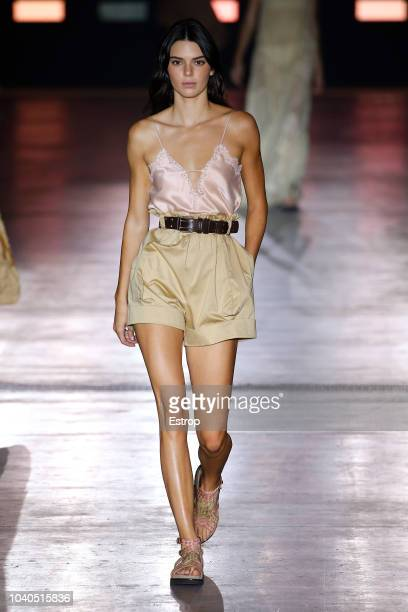 Model Kendall Jenner walks the runway at the Alberta Ferretti show during Milan Fashion Week Spring/Summer 2019 on September 19, 2018 in Milan, Italy.